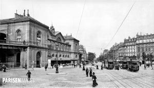 Paris. L'ancienne gare Montparnasse, vers 1900.