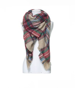 zara-checked-soft-scarf-camel